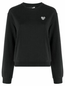 Love Moschino Heart plaque sweatshirt - Black