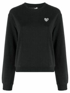 Love Moschino Heart plaque sweatshirt - Black