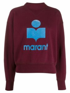 Isabel Marant Étoile logo print sweatshirt - Red