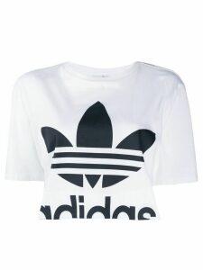 adidas contrast logo T-shirt - White