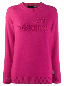 Love Moschino logo stitched jumper - PINK