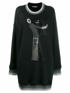 Marco De Vincenzo oversized embellished sweatshirt - Black