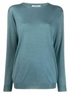 Prada virgin wool crewneck top - Blue