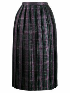 Marco De Vincenzo checked pleated skirt - Green
