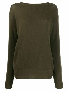 Prada ribbed knitted jersey top - Green