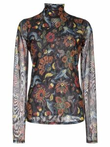 Cinq A Sept paisley print turtleneck top - Black