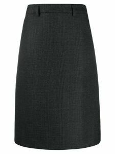 Prada A-line midi skirt - Black