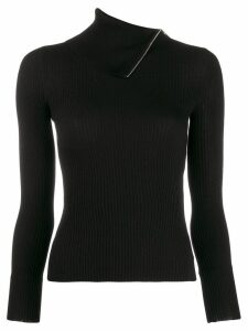 Alexander Wang fold-over knitted jumper - Black