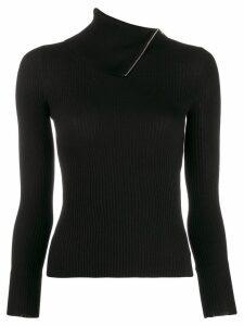 Alexander Wang fold-over knitted jumper - Black