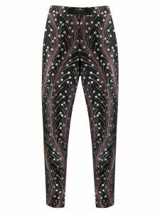 Marco De Vincenzo slim-fit jacquard trousers - Black