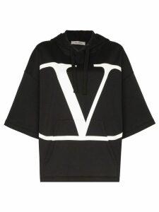 Valentino Vlogo print hoodie - Black