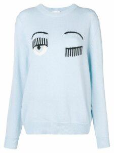 Chiara Ferragni Maglia round neck sweatshirt - Blue