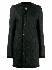 Rick Owens quilted fitted coat - Black