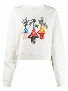 Off-White woman logo sweatshirt