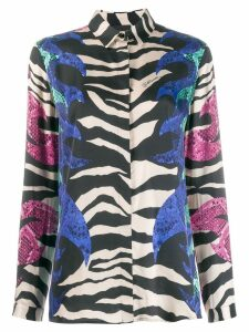 Just Cavalli zebra print shirt - Black