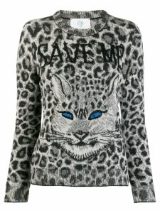 Alberta Ferretti cat print jumper - Grey