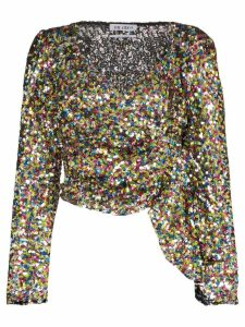 The Attico sequin wrap top - 021 MULTICOLOURED