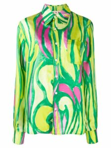 Marni abstract print shirt - Green