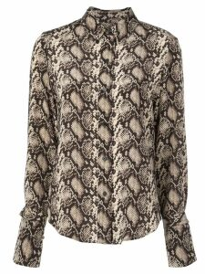 Nili Lotan snakeskin pattern shirt - Brown