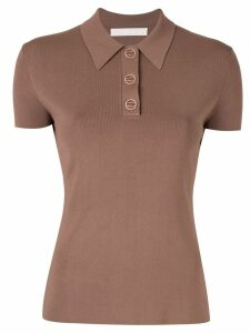 Dion Lee slim-fit polo top - Brown