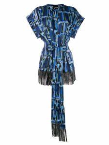 Just Cavalli embellished fringed top - Blue