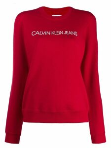 Calvin Klein Jeans branded sweatshirt - Red
