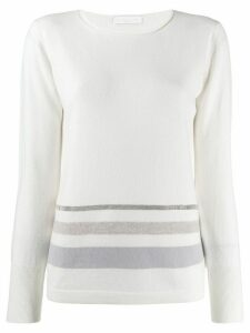 Fabiana Filippi striped sweatshirt - White