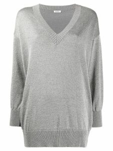 P.A.R.O.S.H. glitter v-neck jumper - Grey