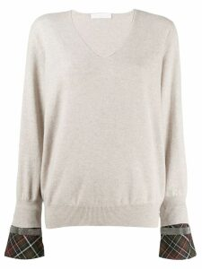 Fabiana Filippi v-neck sweatshirt - NEUTRALS