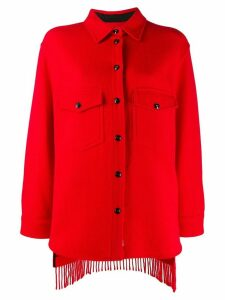 Woolrich fringed knitted shirt - Red