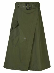 Derek Lam Paperbag Wrap Skirt - Green