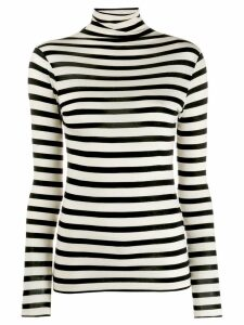 Semicouture stripe roll-neck top - White