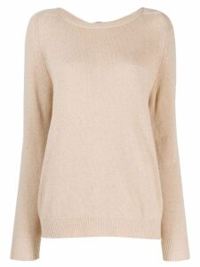 L'Autre Chose round neck top - NEUTRALS