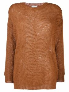 L'Autre Chose round-neck pullover - Brown