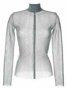 Dion Lee sheer fitted top - Grey