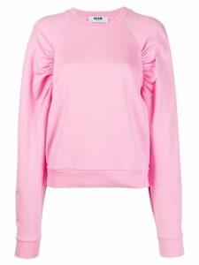 MSGM puff sleeves sweatshirt - Pink