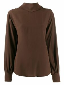 Erika Cavallini back tie fastening blouse - Brown