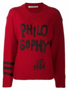 Philosophy Di Lorenzo Serafini graffiti detail jumper - Red