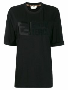 Fendi embroidered logo T-shirt - Black