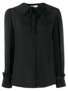 Twin-Set pleated collar blouse - Black