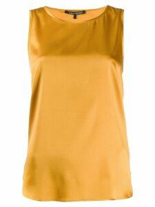 Luisa Cerano draped vest top - Yellow