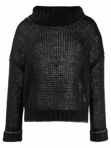 Twin-Set oversized turtleneck jumper - Black
