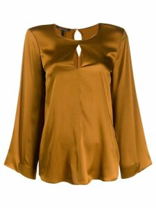 Luisa Cerano back buttoned blouse - Brown