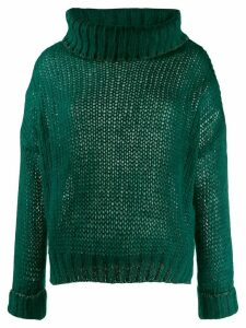 Twin-Set oversized turtleneck jumper - 00521 Dark Green