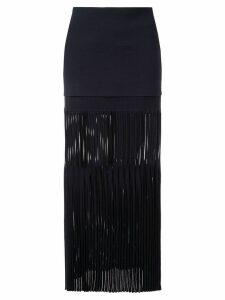 Dion Lee godet pleat skirt - Blue