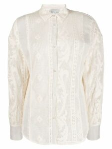 Forte Forte embroidered button shirt - White