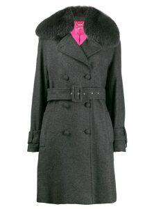 Blumarine double-breasted coat - Grey