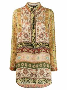 Etro printed long sleeve shirt - Yellow