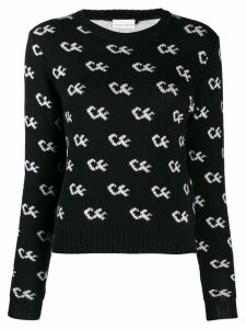 Chiara Ferragni logo knit sweater - Black