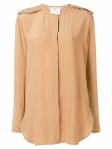 Stella McCartney long-line blouse - NEUTRALS